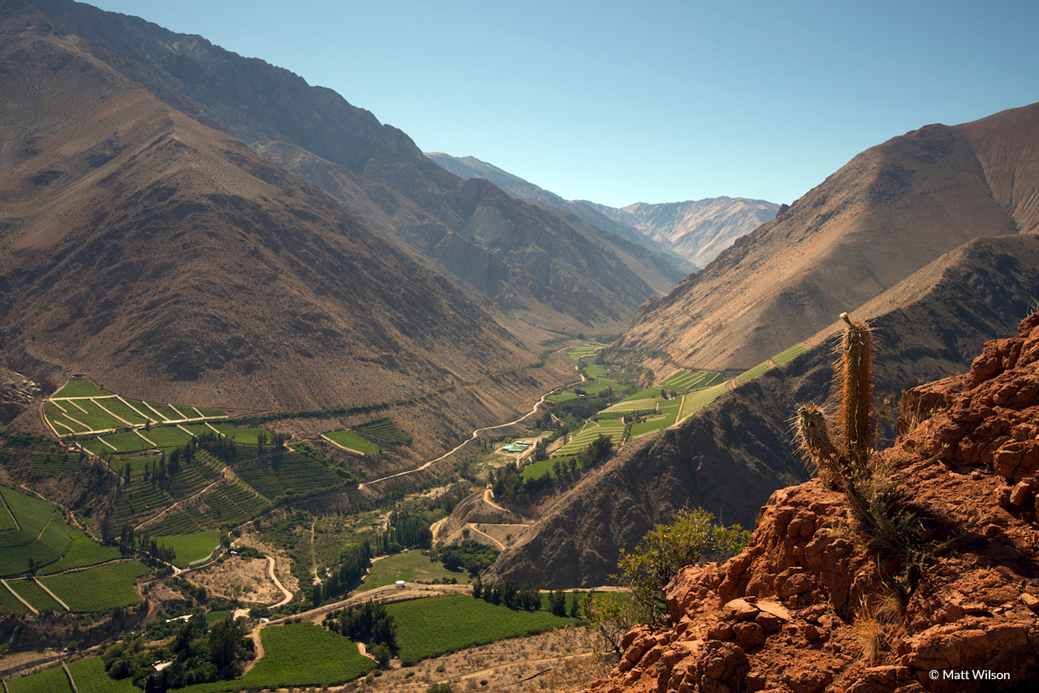 Awesome view of Elqui Valley in Atacama Desert, Chile