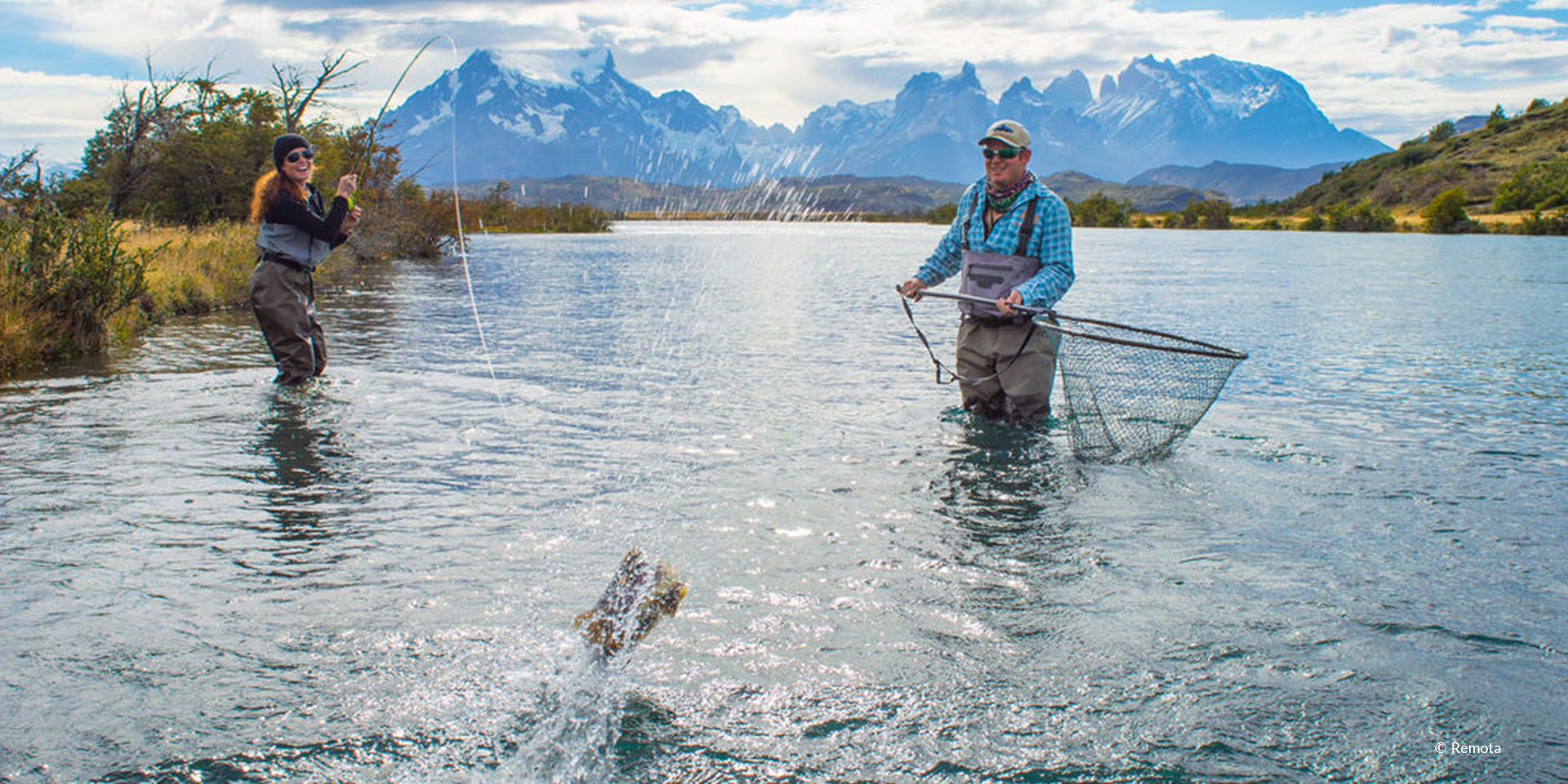 Fly Fishing in Torres del paine, Patagonia